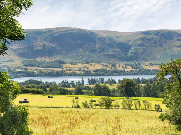 View from the Julie's holiday cottage of Ullswater, the Lake District